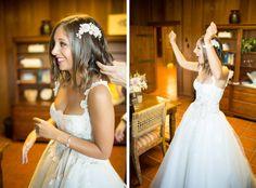 Lovella Bride DJ Lindsay Luv in Edgardo Bonilla wedding dress from Lovella Bridal
