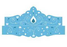 Modèle de couronne de princesse : diadème bleu
