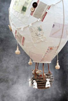 Best 9 Creative Paper Mache Crafts – Make A Giant Papier Mache Hot Air Balloon – Easy DIY Ideas for Making Paper Mache Projects – Cool Newspaper and Paper Bag Craft Tips – Recipe for for How To Make Homemade Paper Mashe paste – Halloween Masks and Costume Paper Crafts For Kids, Crafts To Make, Paper Crafting, Easy Crafts, Easy Diy, Crafts For The Home, Diy Paper Crafts, Wood Crafts, Newspaper Crafts