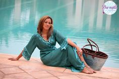Kimono (L)・Moroccan Blue Palace lookbook