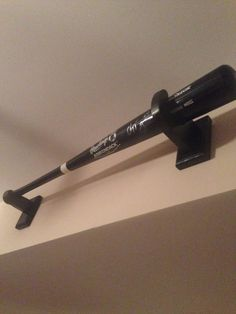 Custom Black Baseball Bat Display Brackets By KidNamesandMore