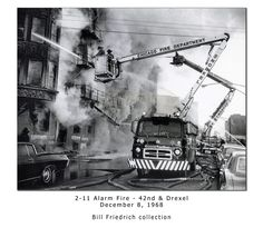 Chicago Fire Department historical fire photo 1968 vintage