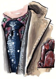 EJ Samson menswear illustration