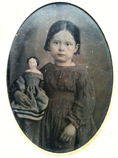 Marieaunet Just love this tin type with little girl and her precious dolly. Looks to to me around the 1870's.