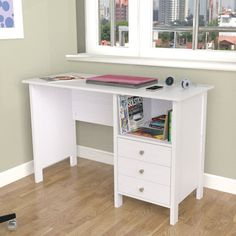 Inval Laura Computer Desk with Shelf | Wayfair