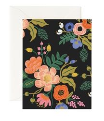 Lively Floral Black cards designed by Anna Bond for Rifle Paper Co. now at Northlight Homestore