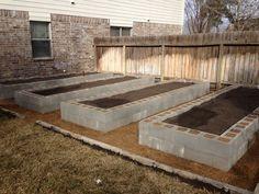 Cinder Block Raised Garden Beds | PortWings.com