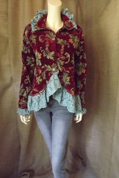 Rhapsody Jacket Romantic Upcycled Lagenlook by bluemermaiddesigns, $129.00