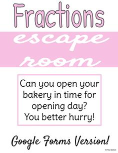 Simplifying Fractions, Math Fractions, Elementary Teacher, Elementary Schools, Funny Feeling, Escape Room, My Teacher, Teaching Resources, Make It Simple
