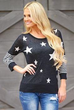 "Stars and Stripes Sweater from Closet Candy Boutique Use code ""repjennifer"" for 10% off and FREE shipping!"