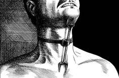 Heretics fork, a medieval torture device.