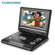"""Fornorm 7.8""""LCD Display DVD Player 270 Degree Swivel Screen Portable TV Game Player With USB SD Card Reader Car Charger Gamepad"""
