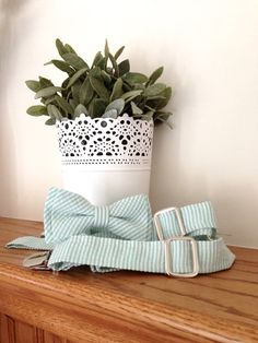 Mint Suspenders and Bow Tie Set for Men or by MiaLorenBoutique, $39.50