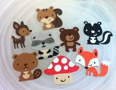 Mix of Woodland Creature Animals Woods Die Cuts / Scrapbooking / DIY Decorations / Banners on Etsy, $15.99