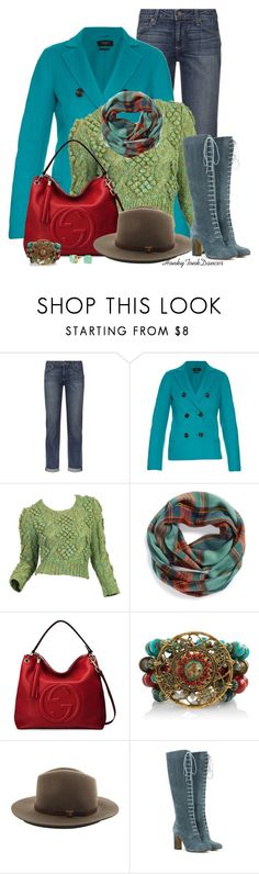 """Teal,Red and Green"" by honkytonkdancer ❤ liked on Polyvore featuring Paige Denim, Weekend Max Mara, David & Young, Gucci, rag & bone, C. Wonder, Etro, cozy and winterstyle"