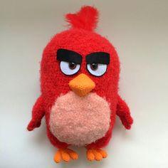 Red Angry birds pattern by Mariya Kozlova Angry Birds, Red Angry Bird, Crochet Animals, Crochet Toys, Bird Patterns, Crochet Patterns, Homemade Face Paints, Yarn Sizes, Love Crochet