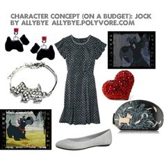 Character Concept (On a Budget): Jock, created by allybye on Polyvore