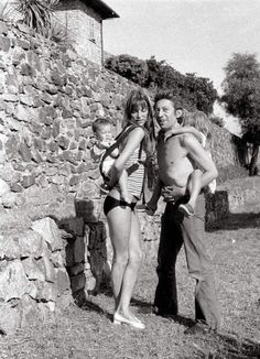 Jane Birkin, Serge Gainsbourg and family.