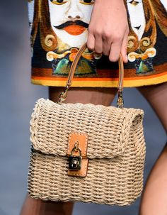 Woven Raffia Bag Trend for Spring Summer 2013.  Dolce & Gabbana Spring Summer 2013. #bag   #trends