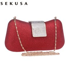 Diamonds Women Evening Bags Candy Color Day Clutches Handbags For Wedding/Party/ Evening Bags With Chain Shoulder Bags