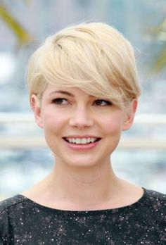 I adore Michelle Williams.  I would totally get this hair cut if I would look this adorable with it.