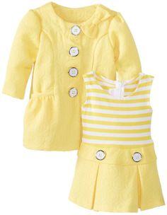 72939c6f3 Bonnie Baby Baby-Girls Newborn Jacquard Coat Set Box Pleat Skirt, Box Pleats ,