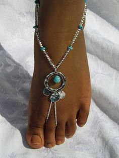 Barefoot sandles Foot jewelry Anklet by SubtleExpressions on Etsy, $29.99