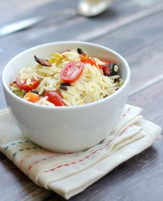 Orzo with Summer Roasted Vegetables | Home & Plate | www.homeandplate.com