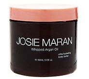 Josie Maran - Whipped Body Butter - Argan Oil Deluxe 13.5 oz. - UNSCENTED - QVC