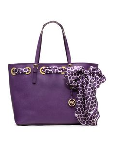 Love this Michael Kors tote and it's in my favorite color...purple!!! MKF14_V1SV4