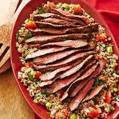 Lebanese Beef and Tabbouleh Salad