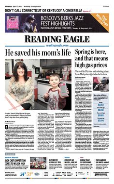 Today's front page. April 7, 2014.