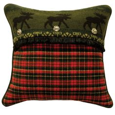 McWoods I Plaid Throw Pillow