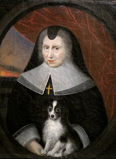 ca. 1667 Françoise of Lorraine as a widow by ? (location unknown to gogm) | Grand Ladies | gogm