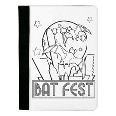 #customize - #Bat Fest Line Art Design Padfolio