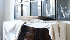 DIY slipcovered sleigh bed - Crazy Wonderful Wood Sleigh Bed, Sleigh Bed Frame, Sleigh Beds, Upholstered Beds, Guest Bedrooms, Dark Wood, Neutral Colors, Slipcovers, Skirted Table