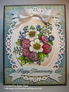 Floral Anniversary by MattsGirl - Cards and Paper Crafts at Splitcoaststampers