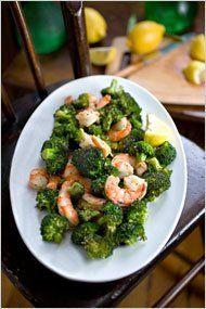 La Dolce Bacon: Roasted Shrimp and Broccoli