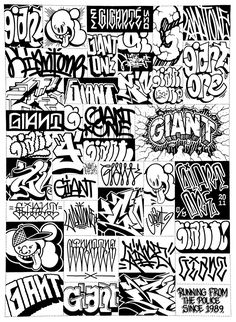 Mike Giant, one of my favorites Graffiti Doodles, Graffiti Words, Graffiti Wall Art, Graffiti Tagging, Graffiti Drawing, Graffiti Styles, Street Art Graffiti, Graffiti Tattoo, Graffiti Lettering Alphabet