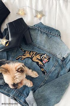 Tiger Graphic Denim Jacket