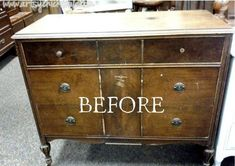This little antique dresser became a Coffee Bar! Love it! artsychicksrule.com #coffeebar #coffeestation #chalkpaint