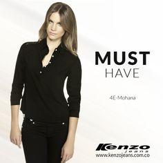 Las prendas de color negro son un imprensindible para cualquier #look, son ideales para todo tipo ocasión. #KenzoJeans www.kenzojeans.com.co