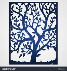 Abstract Frame With Tree. May Be Used For Lasercutting. Lazercut Tree Vector…