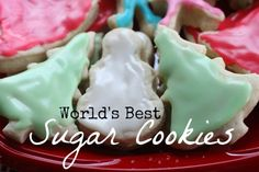 I Can Teach My Child's World's Best Sugar Cookie Recipe. Big claim for a X-mas classic, but they look yummy!
