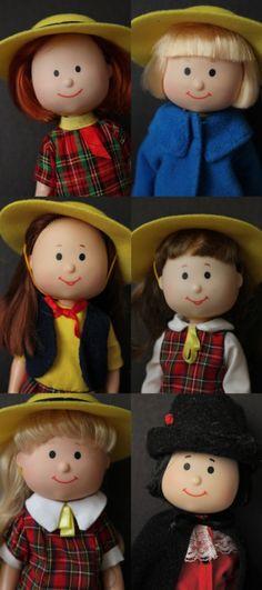 Madeline Dolls--Madeline, Nicole, Chloe, Danielle, Nona, and Pepito. So cute! ^.^