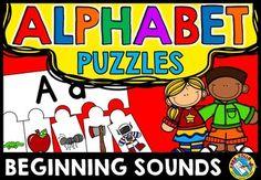 #ALPHABET #PUZZLES:  BEGINNING #SOUNDS #PUZZLES