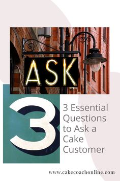 Knowing the 3 essential questions to ask a cake customer is important. Read our blog to discover more. And why not pin this to your own boards too?