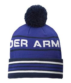21a5cd0b158 Under Armour Womens UA Retro Pom Beanie One Size SIBERIAN IRIS     Check out