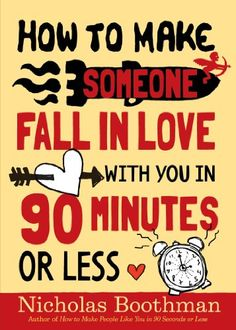 How to Make Someone Fall in Love With You in 90 Minutes o... https://www.amazon.com/dp/0761151621/ref=cm_sw_r_pi_dp_x_cEehybAKXT4DF