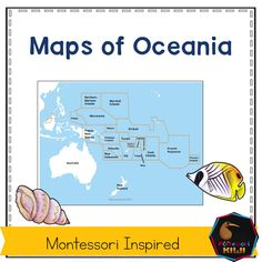 Maps of Oceania and the Pacific Ocean labelled and unlabelled